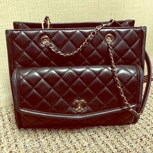 CHANEL Geometric Shopping Tote